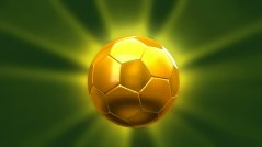 CGI golden soccer ball