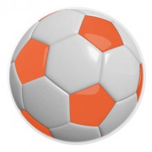 Orange & White Soccer Ball