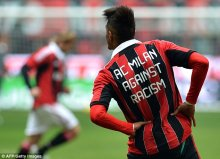 Kevin Prince Boateng had been susceptible to racist taunts during an agreeable in 2013 - and wore this jersey after