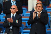 Sacchi (pictured with Michel Platini) also says that there are a lot of black colored players, even yet in youth teams