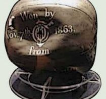 The Charles Goodyear football basketball, initial ever before vulcanized plastic soccer ever sold