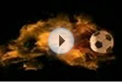 clip 21659443: loopable flaming soccer ball with alpha channel