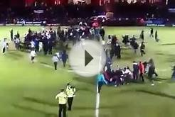 Fan attacks soccer player in England