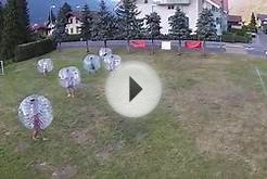 First Bubble Ball Soccer in Interlaken