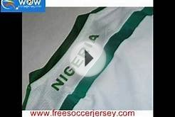 free shipping 2014 World Cup Nigeria soccer jersey , top