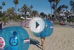 Futboleros Xtreme Soccer Air Balls on the Beach
