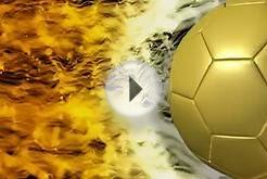 Gold Soccer Ball Video Background Loop