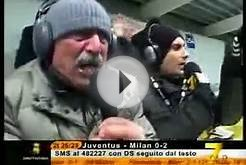 Italian Soccer Announcer Celebrates Teams Goals