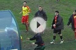 Italian Soccer Player Celebrates Goal By Headbutting