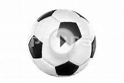 Looping Animation A Soccer Ball. On White Background