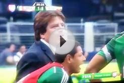 Mexican soccer player breaks his leg 2014 worldcup