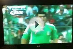 Mexico soccer players play dirty