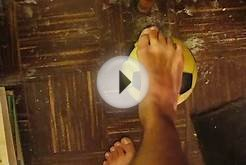 My Feet Playing With The Orange Soccer Ball Vid #3