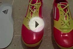 My soccer cleats: Adidas F50 Adizero Micoach spritt web.MP4