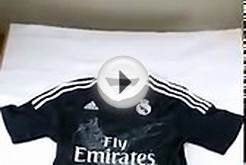 New 14-15 Real Madrid away black cheap soccer jerseys