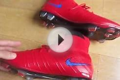 Nike Mercurial Superfly Firm Ground soccer cleats red