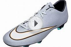 Nike Mercurial Victory V CR7 FG Soccer Cleats - Silver and