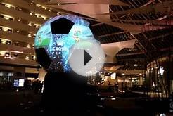 Projection Mapping a Soccer Ball for the FIFA WORLD CUP 2014