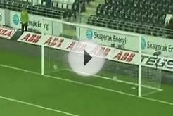 Soccer Player Scores 188ft Long Goal With His Head!
