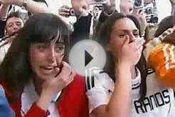 Spanish Girls Faint & Go Wild For Soccer Players