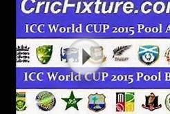 World cup 2015 schedule indian standard time